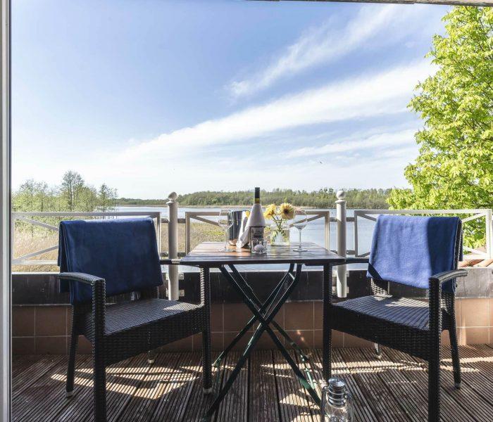 Seelodge Kremmen Hotel Am Wasser Balkon Mit Seeblick