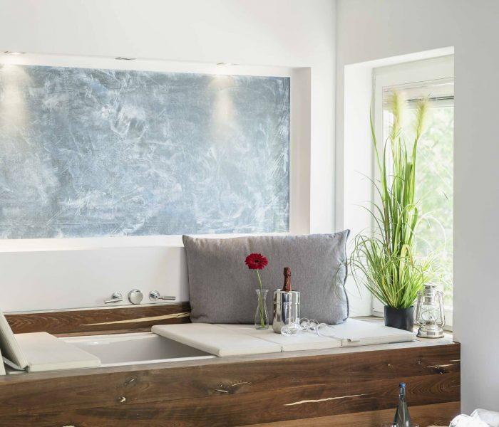Seelodge Kremmen Hotel Am Wasser Pony Suite Lounge Badewanne