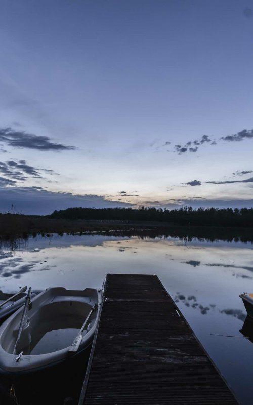 Seelodge Kremmen Hotel Am Wasser Verleih Abendstimmung